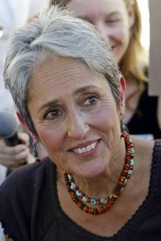 Joan Baez is an American folk singer, songwriter, musician, and activist. Baez has performed publicly for over 55 years, releasing over 30 albums. Fluent in Spanish as well as in English, she has also recorded songs in at least six other languages. Wikipedia Born: January 9, 1941