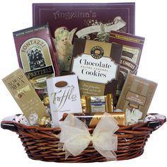Great Arrivals Chocolate Delights Ghirardelli and Lindt Gift Basket, Red