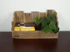Rustic Bin - Rustic Box - Rustic Window Box - Rustic Tabletop Wine Rack - Pallet Furnishings - Reclaimed Wood
