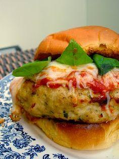 Chicken Parmesan Burgers #Recipe