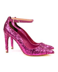 Eat your heart out Dorothy….. SAMENT - Glitter court shoe - Pink | Womens | Ted Baker UK