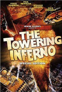 The Towering Inferno (1974) At the opening party of a colossal, but poorly constructed, office building, a massive fire breaks out that threatens to destroy the tower and everyone in it.  Director: John Guillermin Writers: Richard Martin Stern (novel), Thomas N. Scortia (novel), 2 more credits » Stars: Paul Newman, Steve McQueen, William Holden