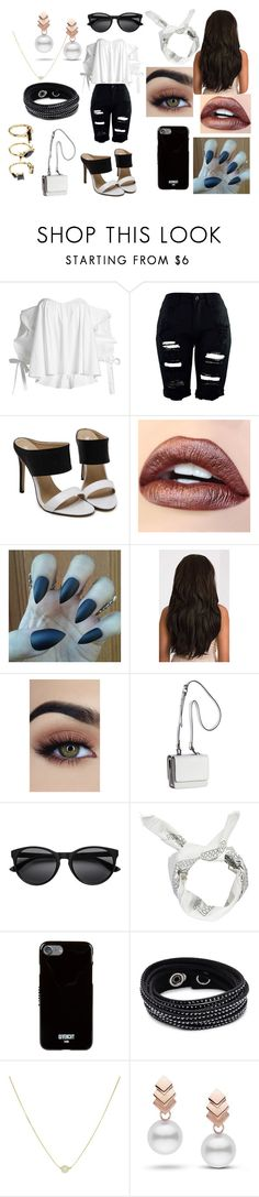 """First Date: Spring Lunch and Ice-Cream"" by roxy-crushlings ❤ liked on Polyvore featuring Caroline Constas, Kendall + Kylie, Boohoo, Givenchy, Swarovski, Escalier and Noir Jewelry"