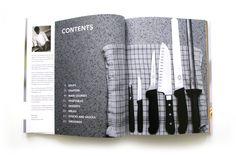 Beamish Park Hotel, Recipe Book Spread, designed by Perro