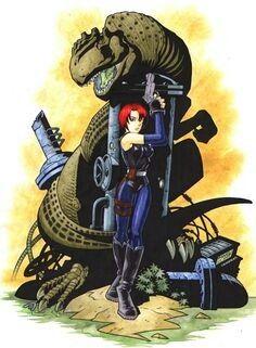 Dino Crisis, Dieselpunk, Rockabilly, Samurai, Comics, Games, Art, Art Background, Kunst