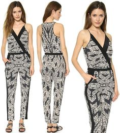 How to Wear a Panther-Lace-Print Jumpsuit with Pumps Like Heidi Klum