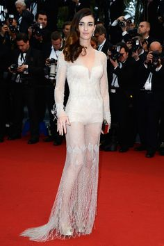 Paz Vega in a crystal-embroidered Roberto Cavalli gown. The 66th Annual Cannes Film Festival Opening Ceremony, 2013.