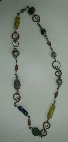 Swirls necklace by Nancy S