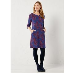 Buy White Stuff Persia Jersey Dress, Japanese Purple from our Women's Dresses range at John Lewis & Partners. Fall Dresses, Dresses For Work, Cotton Texture, White Stuff, Weekend Outfit, Outfit Ideas, Japanese, Elegant, Purple