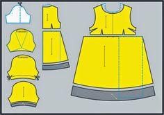 Foto divulgação    O romantismo está no ar...Por isso, hoje eu trouxe uma sugestão de modelagem com corte império, no vestido recortado ...