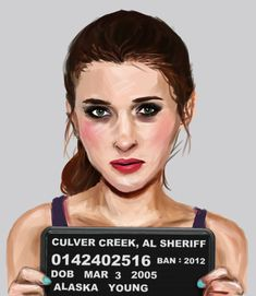 Alaska Young, Looking For Alaska.   5 Marvellous Mugshots Of Famous Characters From Banned Books