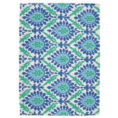 "I pinned this Jennifer Paganelli Back Bay 2'10"" x 3'9"" Rug in Blue from the On the Bright Side event at Joss and Main!"