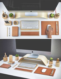 Of Course, A Well Organized Desk Is Key To A Successful Workspace Design.  Matching Wood Desk Elements Are Just One Way To Encourage Yourself To Keep  Things ...