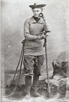 It is quite possible that no one has ever given less of a fuck in a photograph than mountaineer Annie Smith Peck.Peck scaled all the major mountains of Europe, then went to South America, where in 1908 she was the first person to scale Peru's highest peak, Mt Huscaran, gaining international acclaim.She was also an influential scholar, writing multiple books and lecturing around the world. She kept climbing until the age of 82.Oh, and she didn't wear the long skirts expected of women at the…