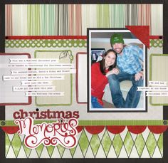 Christmas in March?!! #Scrapbooking layout from Creative Memories.    http://www.creativememories.com