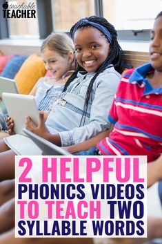 Here are the best YouTube videos that will help you teach your students how to read those tricky words with two syllables or more. Phonics Rules, Teaching Phonics, Teaching Kindergarten, Teaching Reading, Literacy Skills, Early Literacy, Phonics Videos, Hooked On Phonics, Activities For Kids