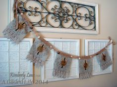 Fabric Garland by Kimberly Laws for A Gilded Life.