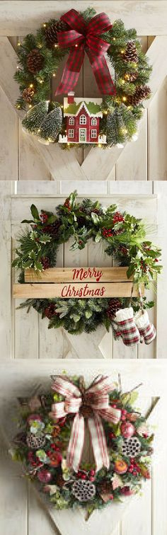 Christmas Wreaths combines all of our favorite Christmas traditions. wreath gathers together everything we love about Christmas with a sweet rustic theme. #christmas #decor #home #ad #lovepier1