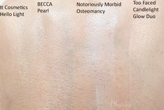 NEW Phyrra Beauty for the Bold Pale Girl's Guide to Contouring! Her Picks for Highlighter Singles, Swatches: IT Cosmetics Hello Light Creme Illuminator(great if you are concerned with not accentuating aging skin), BECCA Cosmetics Shimmering Skin Perfector in Pearl, Notoriously Morbid Osteomancy, and Too Faced Candlelight Duo. I also wanted to mention that if you don't want to purchase the whole Kevyn Aucoin Palette and just want the Celestial Highlight and the Sculpting Shade alone, you can…