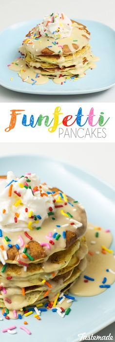 Add some Fun and color to your morning pancakes! Then top them with a Maple glaze.