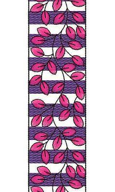 Vintage Leaf Pattern Lace Embroidery Design