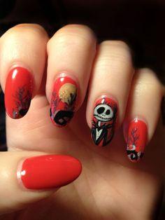 scary nail paint