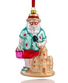 Beach Santa Ornament - Ornament Reviews