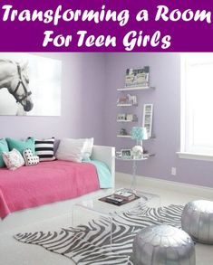 Tween Girl Bedroom Redecorating Tips, Ideas, and Inspiration: Transitioning a ki. Teen Bedding Sets, Teen Girl Bedding, Teen Girl Rooms, Teenage Bedrooms, Small Room Bedroom, Bedroom Wall, Girls Bedroom, Bedroom Decor, Bedroom Ideas