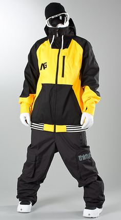 Analog - Greed Snow Jacket Corp Yellow/True Black - Ridestore.com