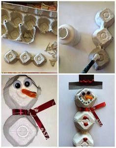 11 Activités de Noël pour enfants à faire avec des boites d'œufs