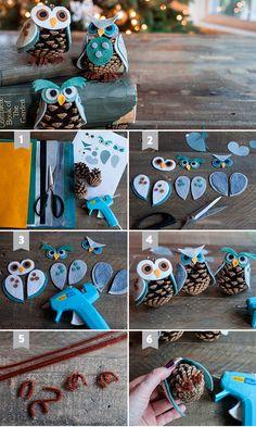 Елочные игрушки из шишек. Подарки на новый год своими руками. Более 20 идей