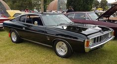Black VJ Black VJ Valiant Charger Australian Muscle Cars, Aussie Muscle Cars, Chrysler Charger, Chrysler Valiant, Mad Max, Road Racing, Mopar, Cool Cars, Dream Cars