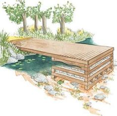 lake docks design | ... currents permit, rock-filled cribs can make a solid dock foundation