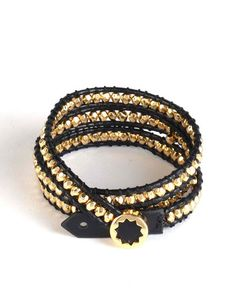 House of Harlow Karma Beaded Wrap Bracelet with Sunburst Closure  southmoonunder.com