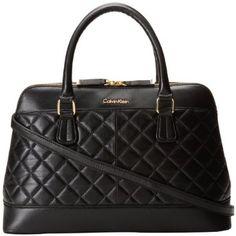 Calvin Klein Luxe Lamb Satchel Top Handle Bag.  Love this bag!  Macy's