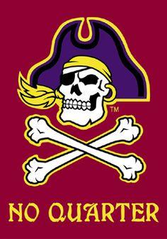 b3eb54ef51b East Carolina Pirates NO QUARTER Premium 28x40 Banner Flag - ECU Football