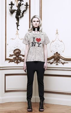 I Love NY Studded Tee by Eddie Borgo Now Available on Moda Operandi