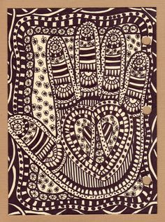 """Zentangles - Visual Journal - I didn't know there was an Art called """"Zentangles""""... I Love It... I do."""