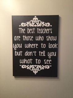 The best teachers gift for teacher teacher by SunShineWallArt