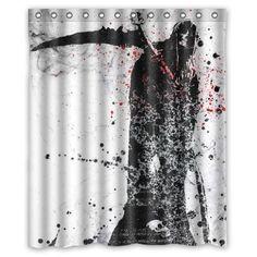 Halloween Shower Curtain Queen of Death Art Print for Bathroom