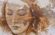 ' A girl in Doi Pong Yaeng ' Acrylic on canvas  1.90 x 1.20 cm.