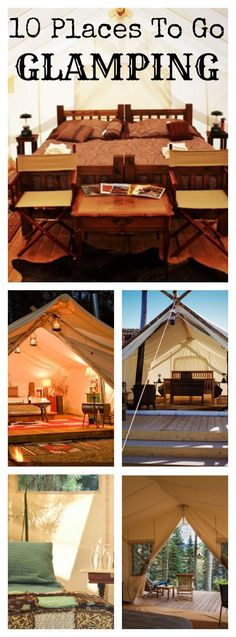 """I hate the word """"Glamping"""", can someone think of a better term for this? HOWEVER, these tents look like the ones from the Triwizard Tournament in HP so I need to do this."""