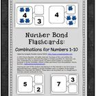 $ Flashcards for all number bonds to 10.    Suggestions for use: •	Use with two color counters to build conceptual understanding of parts...