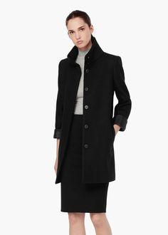 Manteau col cheminée