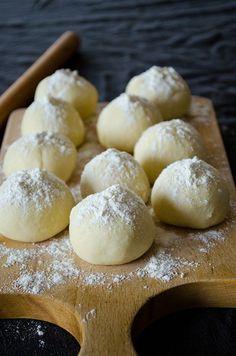 Dough balls are ready to become basic healthy homemade flour tortillas. These do not contain lard or shortening or baking powder. | giverecipe.com