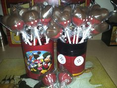 Mickey Mouse cakepops for my son's 2nd birthday party.
