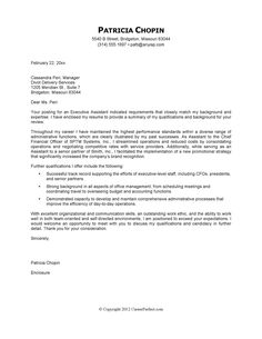 executive assistant sample cover letter