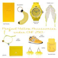 Yellow Accessories Lanvin, Balenciaga, Jade Jagger, Yellow Accessories, Smythson, Marni, Bracelet Watch, Chf, Watches