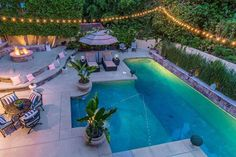 Nick Lachey and wife Vanessa are selling their Encino home Nick And Vanessa, Nick Lachey, Backyard Pool Designs, Backyard Lighting, Mansions For Sale, Beautiful Interior Design, Celebrity Houses, California Homes, Outdoor Pool