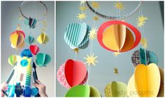 Lady Poppins: DIY Solar System Mobile... so cute! except for the giant rocket :P